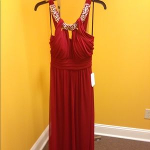 A red prom dress